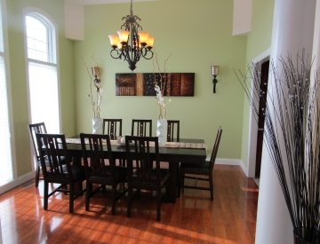 Le Mars formal dining room